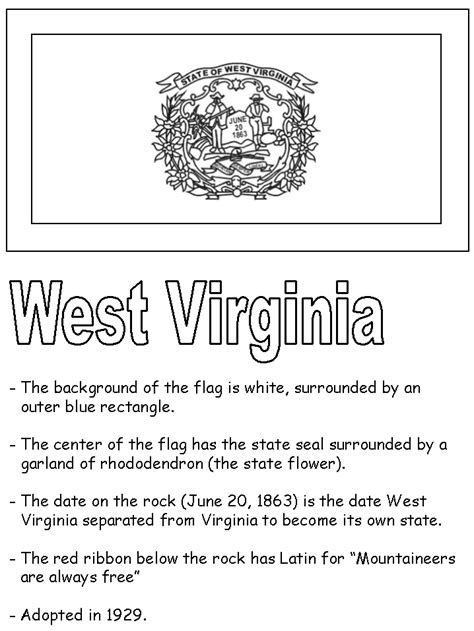 free coloring pages of state flag of virginia
