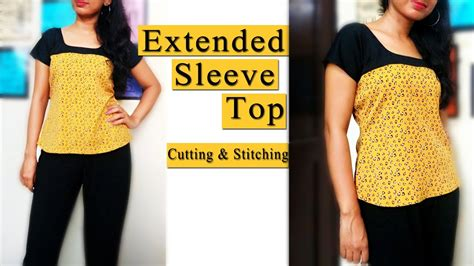 Sleeve Stitching Top extended sleeve top cutting stitching magyar sleeve