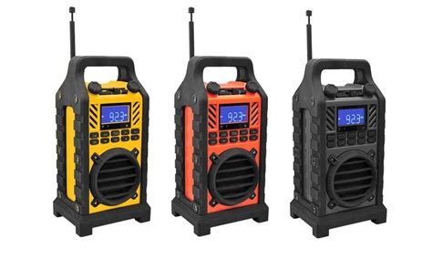 rugged portable radio pyle rugged and portable bluetooth speaker with fm radio groupon