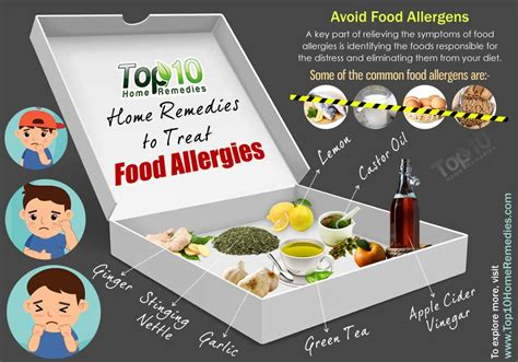 how to treat allergies home remedies to treat food allergies top 10 home remedies