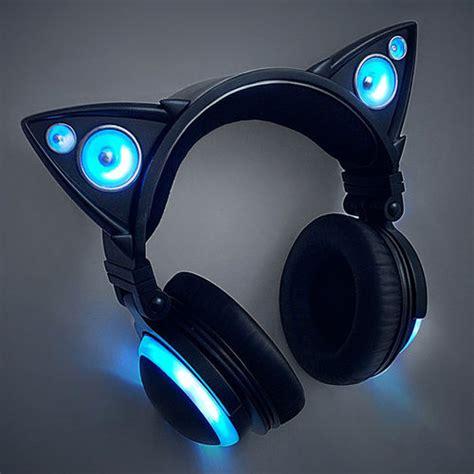 Headphone Neko cat ear headphones by axent wear brookstone