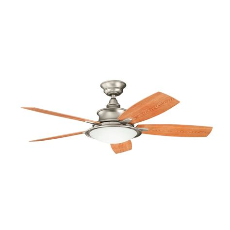 kichler fan light kit kichler ceiling fan with light kit in brushed nickel