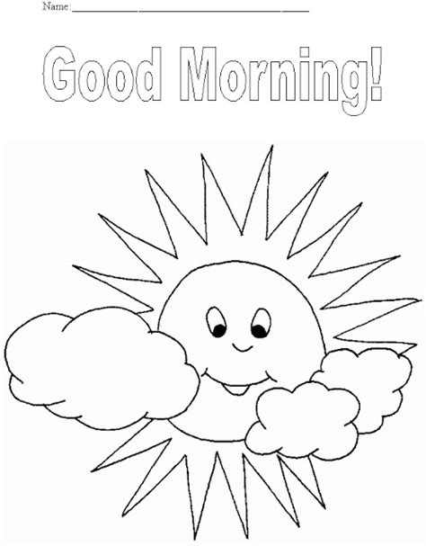 coloring pages morning free coloring pages of morning afternoon