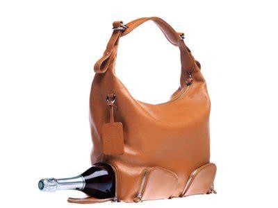 fancy  handbag holds everythingincluding  bottle  wine business insider