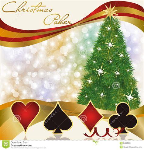 christmas poker casino background stock vector image