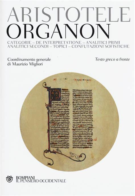 testo greco organon testo greco a fronte aristotele libro