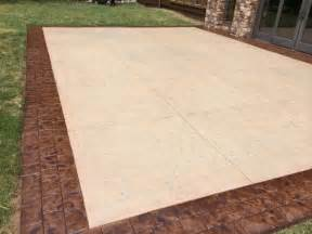 How To Seal Concrete Patio Restoring Stamped Concrete Desert Sand And Bark Brown