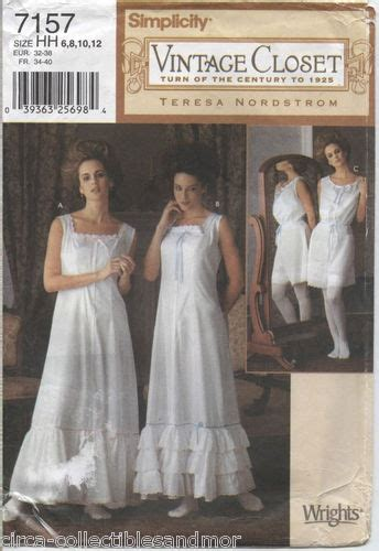 edwardian undergarments collection historical sewing simplicity sew pattern 7157 misses edwardian era