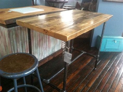 rustic reclaimed wood kitchen island ideas the clayton reclaimed wood rustic modern kitchen island or table by