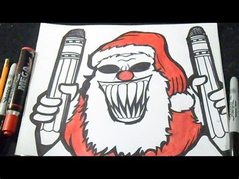 imagenes de santa claus asesino c 243 mo dibujar a santa claus payaso graffiti youtube