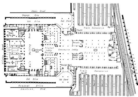 chicago union station floor plan chicago union station map my