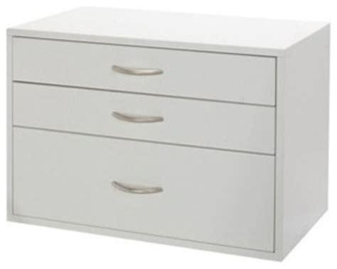 organized living freedomrail big o box 3 drawer unit