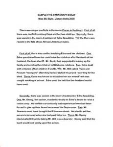 Exle Of Essay Paragraph by 8 1 Paragraph Essay Format Basic Appication Letter