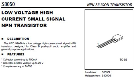 high voltage signal transistor s8050 low voltage high current small signal npn self sufficiency