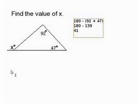 how to find the outdoor find a missing angle outside of a triangle