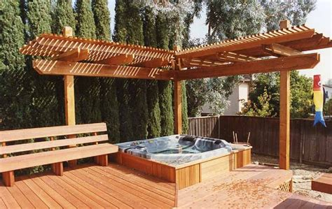 trellis designs for decks beautiful outdoor tub options for your landscaping