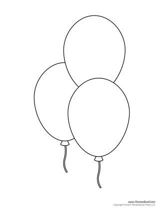 Printable balloon template birthday printables