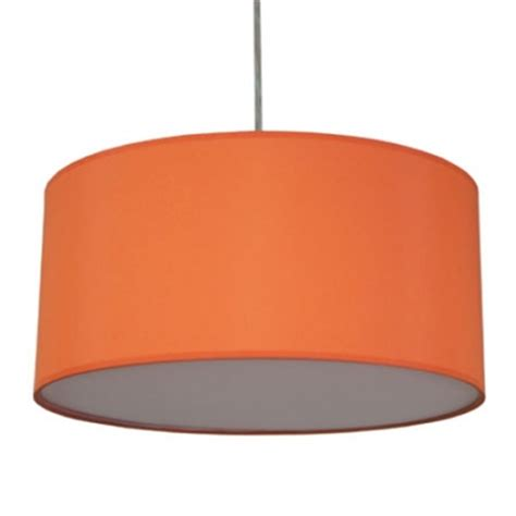 Drum Pendant Shade In Burnt Orange Cotton Imperial Lighting Orange Pendant Light Shade