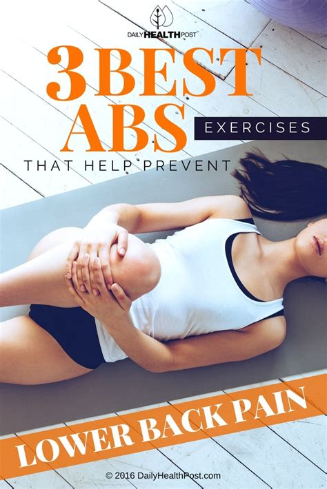 3 best exercises for lower abs to prevent back