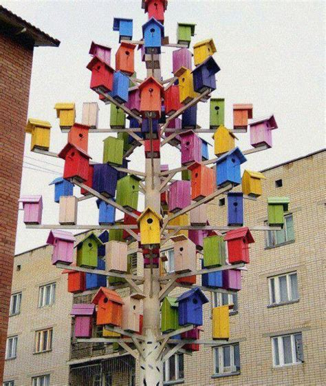 colorful bird houses colorful bird houses rainbow of colors