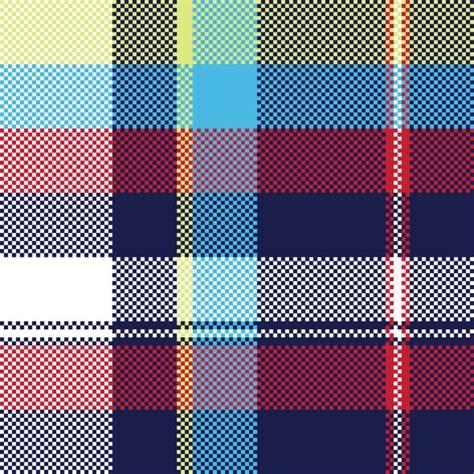 fabric pattern texture seamless blue check pixel fabric texture seamless pattern vector 01