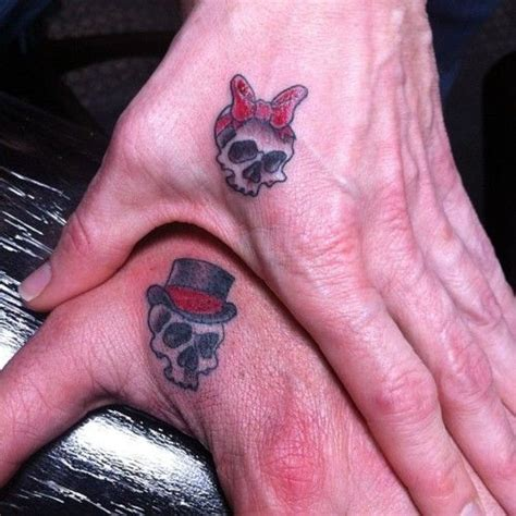 matching skull tattoos for couples his and hers skulls idea skulls