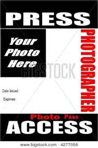 press pass template blank press pass stock photo stock images bigstock