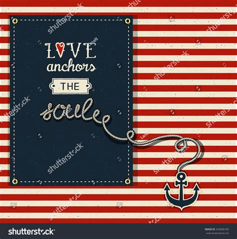 Love Anchors The Soul Nautical - love anchors soul inspirational quote valentines stock