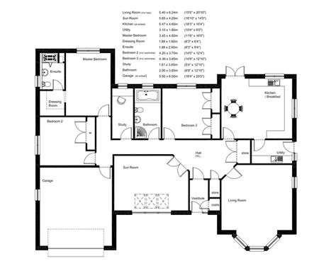 uk house floor plans hartfell homes ettrick bungalow new build elegant
