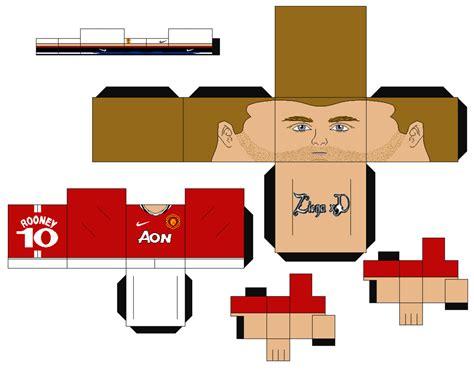 Papercraft Uk - papercraft wayne rooney manchester united 183 manualidades