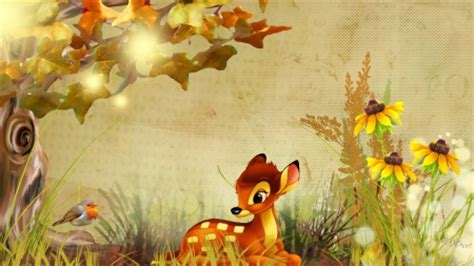fall bambi deer & animals background wallpapers on