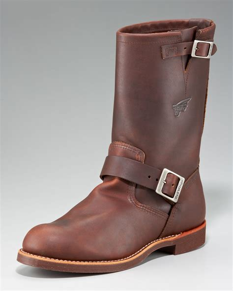 wing engineer boots wing heritage engineer boot in brown for lyst