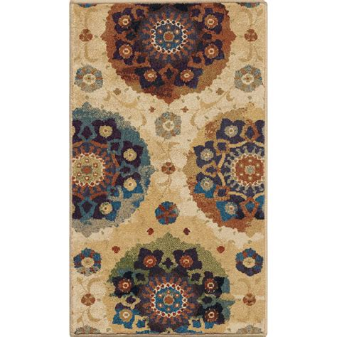 Throw Rugs by Shop Orian Rugs Suzzanni Multi Rectangular Indoor Machine Made Throw Rug Common 2 X 3