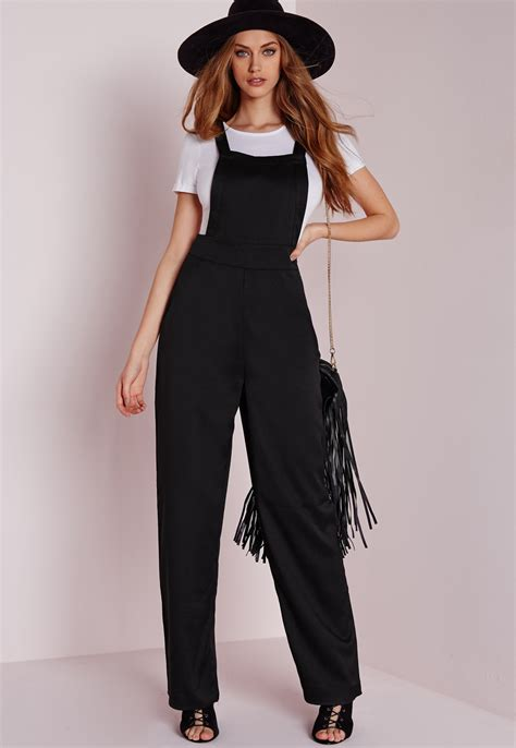 Missguided Maternity Dungarees by Clarkson Shows Belly In Black