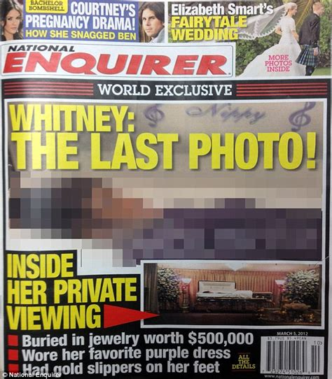 The National Enquirer Uncovers Explosive Claims About Smith She Hardly Ate Just Smoked Cocaine And Drank Fruit Juice by Houston Dead In Coffin National Enquirer