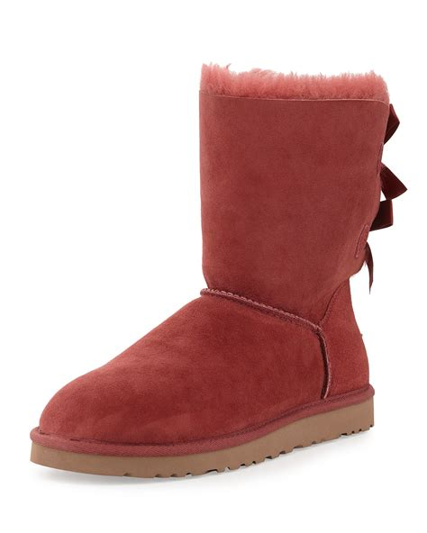 ugg bailey bow back boot in redwood save 32 lyst