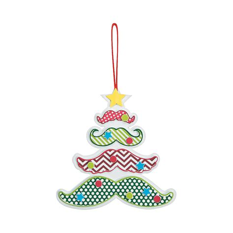 mustache christmas tree ornament craft kit ornament