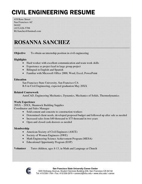 amusing resume samples civil engineering students with additional