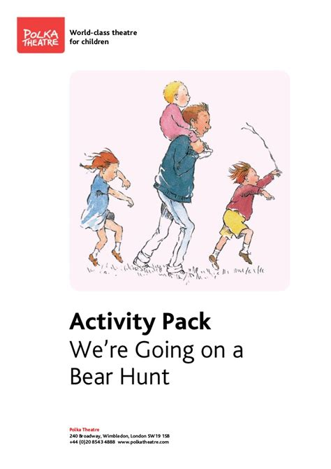 were going on a 1782950222 we re going on a bear hunt pack quot polka theatre quot