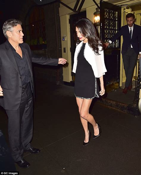 Sa Date Black amal clooney puts on a leggy display on a date with