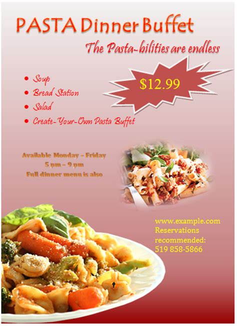 20 free food flyer templates demplates