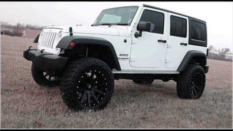 jeep black 4 door white and black jeep wrangler 4 door hardtop reviews youtube