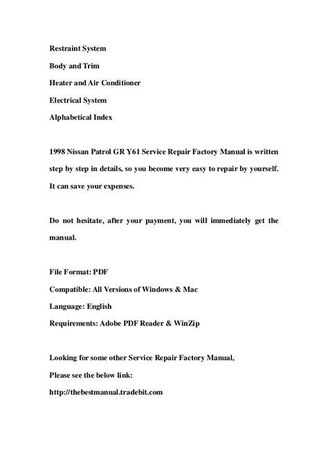 nissan patrol service repair manual download pdf autos post nissan patrol service repair manual download pdf autos post