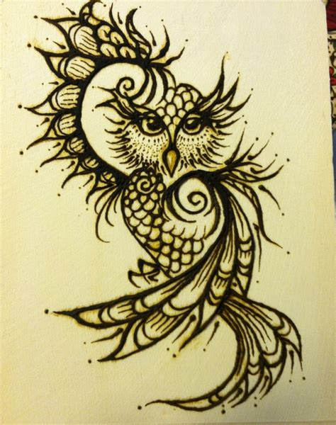 owl henna tattoo henna owl box there will be 4 sides thanks to an