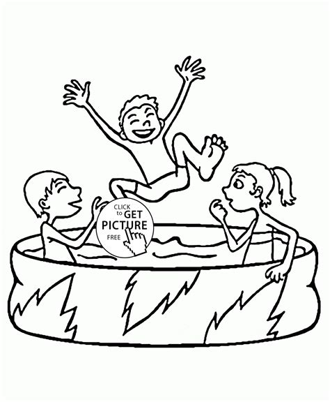 pool coloring pages for toddlers coloring pages