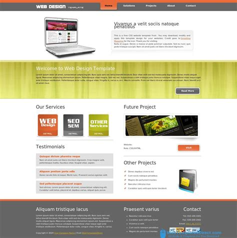 web design template free css html layout website templates