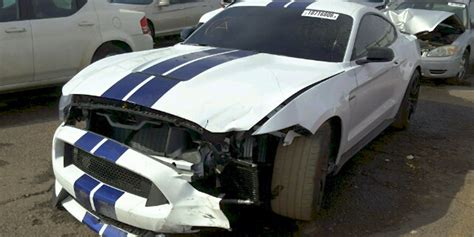 crashed mustang for sale crashed shelby gt350 salvage car for sale ford authority