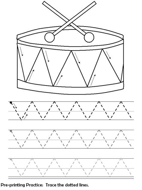 drum pattern worksheets แบบฝ กลากเส นร ปทรงต างๆ วงกลม ทะแยง เส นตรง เส นด ง ร ป