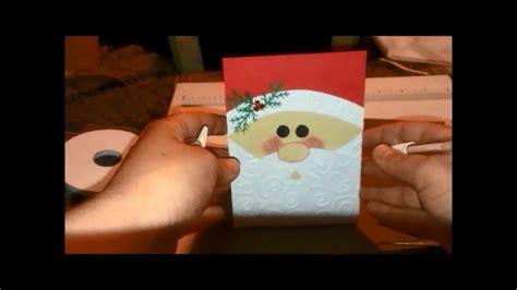 youtube carding tutorial santa card tutorial youtube