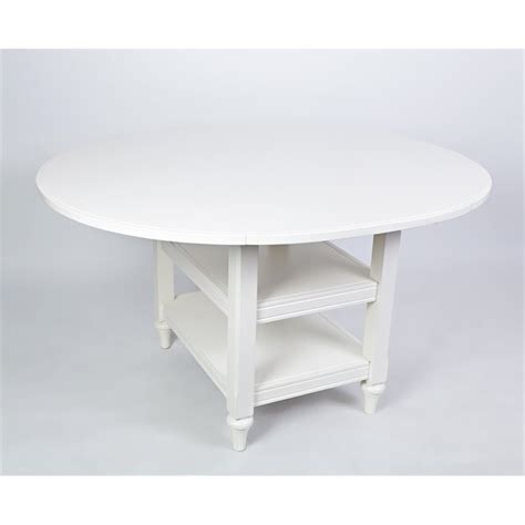 drop leaf dining table in white 21000